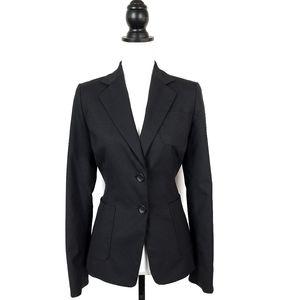 Banana Republic Classic Black Wool Blend Suit Blazer